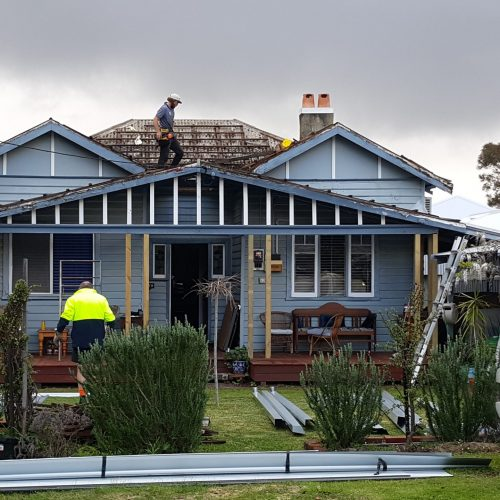 2. Mid repairs and new roof installation 1